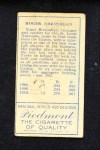 1911 T205 OPN Roger Bresnahan   Back Thumbnail