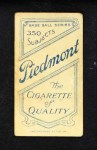 1909 T206  Peter O'Brien  Back Thumbnail