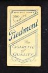 1909 T206 C Fred Snodgrass  Back Thumbnail