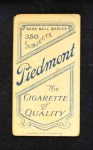 1909 T206  Billy Campbell  Back Thumbnail