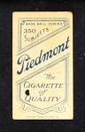 1909 T206  Paul Davidson  Back Thumbnail