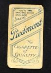 1909 T206  Rube Geyer  Back Thumbnail
