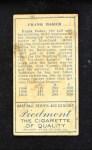 1911 T205  Home Run Baker  Back Thumbnail