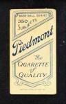 1909 T206 FLD Tom Downey  Back Thumbnail