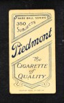 1909 T206  Rube Dessau  Back Thumbnail
