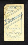 1909 T206 CHI Frank Smith  Back Thumbnail