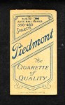 1909 T206 xL Lee Tannehill  Back Thumbnail
