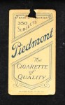 1909 T206  Bill Burns  Back Thumbnail