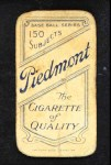 1909 T206 RED Frank Chance  Back Thumbnail