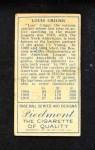 1911 T205  Lou Criger  Back Thumbnail