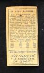 1911 T205  Lee Tannehill  Back Thumbnail