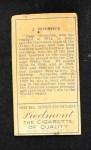 1911 T205  Jiggs Donahue  Back Thumbnail