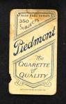 1909 T206  Doc Casey  Back Thumbnail