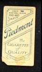 1909 T206  Josh Devore  Back Thumbnail