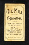 1909 T206 DAL Molly Miller  Back Thumbnail