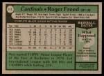 1979 Topps #111  Roger Freed  Back Thumbnail