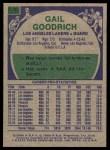 1975 Topps #110  Gail Goodrich  Back Thumbnail