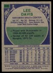 1975 Topps #234  Lee Davis  Back Thumbnail