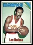 1975 Topps #25  Lou Hudson  Front Thumbnail