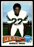 1975 Topps #424  Burgess Owens  Front Thumbnail
