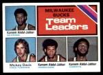 1975 Topps #126   -  Mickey Davis / Kareem Abdul-Jabbar Bucks Team Leaders Front Thumbnail