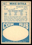 1968 Topps #162  Mike Ditka  Back Thumbnail