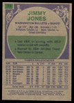 1975 Topps #23  Jimmy Jones  Back Thumbnail