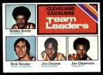 1975 Topps #120   -  Bobby Smith / Dick Snyder / Jim Chones / Jim Cleamons Cavaliers Team Leaders Front Thumbnail