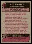 1977 Topps #30  Ed White  Back Thumbnail