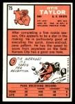 1966 Topps #75  Otis Taylor  Back Thumbnail
