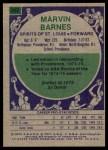 1975 Topps #252  Marvin Barnes  Back Thumbnail