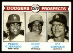 1979 Topps #719   -  Pedro Guerrero /Rudy Law / Joe Simpson Dodgers Prospects   Front Thumbnail