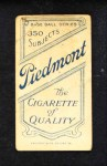 1909 T206  George Schirm  Back Thumbnail