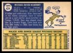 1970 Topps #424  Mike Kilkenny  Back Thumbnail