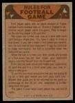 1974 Topps  Checklist   Minnesota Vikings Team Back Thumbnail