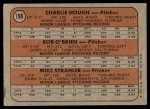 1972 Topps #198   -  Charlie Hough / Bob O'Brien / Mike Strahler Dodgers Rookies   Back Thumbnail