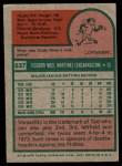 1975 Topps #637  Ted Martinez  Back Thumbnail