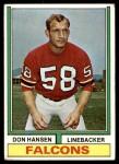 1974 Topps #3  Don Hansen  Front Thumbnail