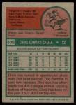 1975 Topps #505  Chris Speier  Back Thumbnail