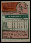 1975 Topps #237  Carl Morton  Back Thumbnail