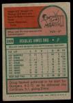 1975 Topps #269  Doug Rau  Back Thumbnail