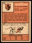 1966 Topps #123  Kenny Graham  Back Thumbnail