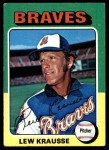 1975 Topps #603  Lew Krausse  Front Thumbnail