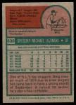 1975 Topps #630  Greg Luzinski  Back Thumbnail
