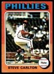 1975 Topps #185  Steve Carlton  Front Thumbnail