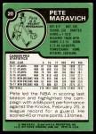 1977 Topps #20  Pete Maravich  Back Thumbnail