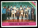1975 Topps #321   Denver Nuggets Front Thumbnail