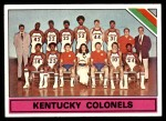 1975 Topps #323   Kentucky Colonels Front Thumbnail