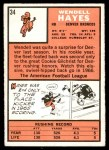 1966 Topps #34  Wendell Hayes  Back Thumbnail