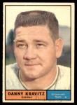 1961 Topps #166  Danny Kravitz  Front Thumbnail